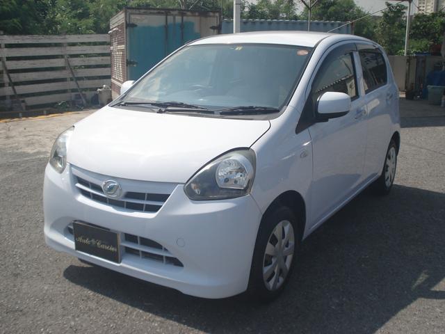 沖縄の中古車 ダイハツ ミライース 車両価格 33万円 リ済別 2012(平成24)年 9.8万km ライトブルーM