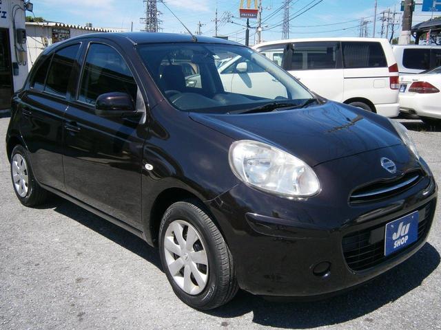 沖縄の中古車 日産 マーチ 車両価格 35万円 リ済別 2011(平成23)年 6.7万km ワインM