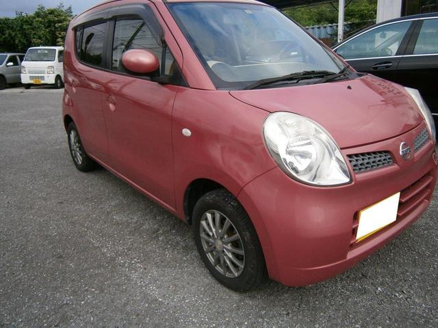 沖縄の中古車 日産 モコ 車両価格 25万円 リ済別 2009(平成21)年 8.2万km レッドM