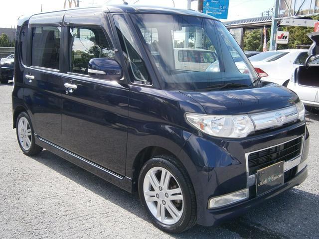 沖縄の中古車 ダイハツ タント 車両価格 43万円 リ済別 2009(平成21)年 9.0万km ダークブルーM
