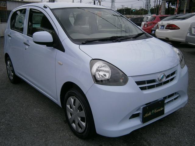 沖縄の中古車 ダイハツ ミライース 車両価格 29万円 リ済別 2012(平成24)年 7.3万km ライトブルー