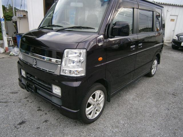 沖縄の中古車 スズキ エブリイワゴン 車両価格 49万円 リ未 2009(平成21)年 8.9万km ダークパープルM