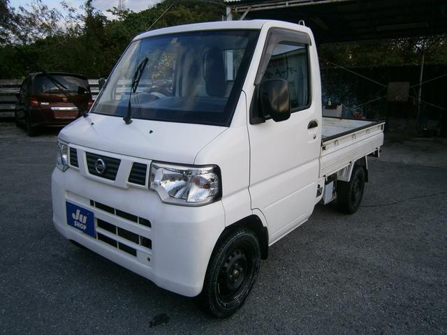 沖縄の中古車 日産 NT100クリッパートラック 車両価格 25万円 リ済別 2012(平成24)年 25.5万km ホワイト