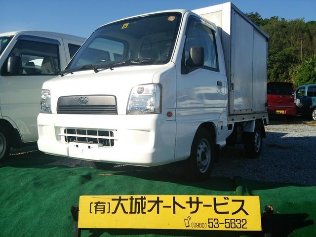 沖縄の中古車 スバル サンバートラック 車両価格 41万円 リ済込 平成15年 12.4万km ホワイト