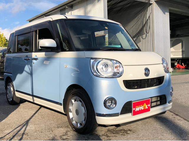 沖縄の中古車 ダイハツ ムーヴキャンバス 車両価格 148万円 リ済込 2016(平成28)年 1.5万km ブルーM