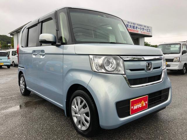 沖縄の中古車 ホンダ N-BOX 車両価格 149万円 リ済込 2017(平成29)年 100km ライトブルーM