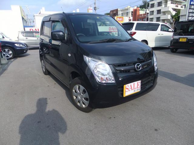 沖縄の中古車 マツダ AZワゴン 車両価格 39万円 リ済込 2011(平成23)年 9.8万km ブラック