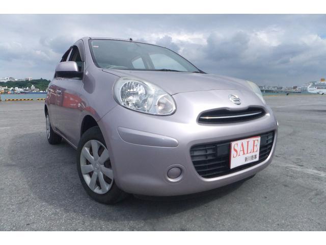 沖縄の中古車 日産 マーチ 車両価格 45万円 リ済込 平成22年 7.9万km パープル