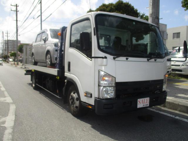 沖縄県の中古車ならタイタントラック 積載車  極東フラトップ