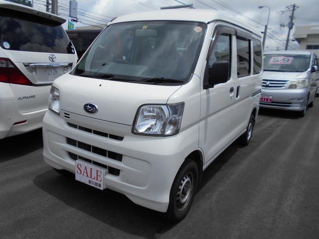 沖縄の中古車 スバル サンバーバン 車両価格 48万円 リ済込 平成26年 12.0万km ホワイト