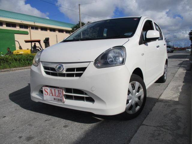 沖縄の中古車 ダイハツ ミライース 車両価格 33万円 リ済込 平成25年 9.1万km ホワイト