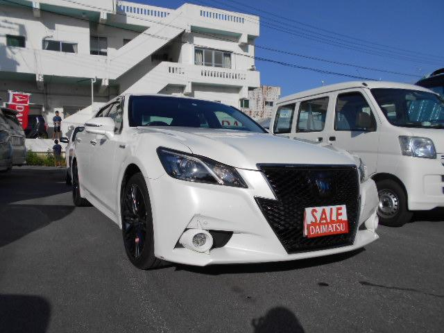 沖縄県中頭郡西原町の中古車ならクラウンハイブリッド アスリートS ブラックスタイル