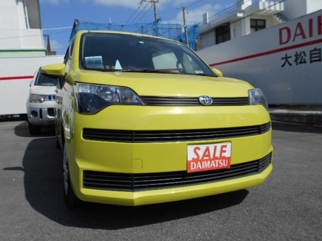 沖縄の中古車 トヨタ スペイド 車両価格 48万円 リ済込 2012(平成24)年 5.9万km イエロー