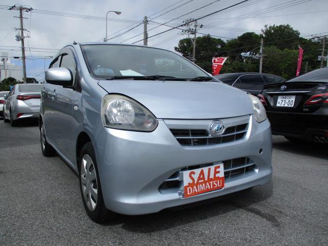 沖縄の中古車 ダイハツ ミライース 車両価格 39万円 リ済込 2013(平成25)年 5.3万km シルバー