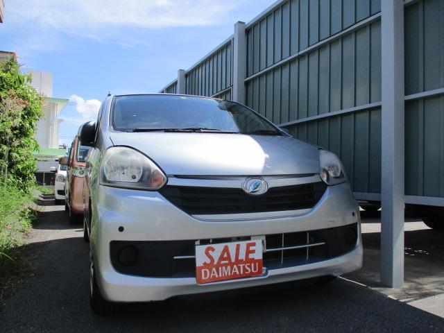 沖縄の中古車 ダイハツ ミライース 車両価格 39万円 リ済込 2015(平成27)年 8.6万km シルバー