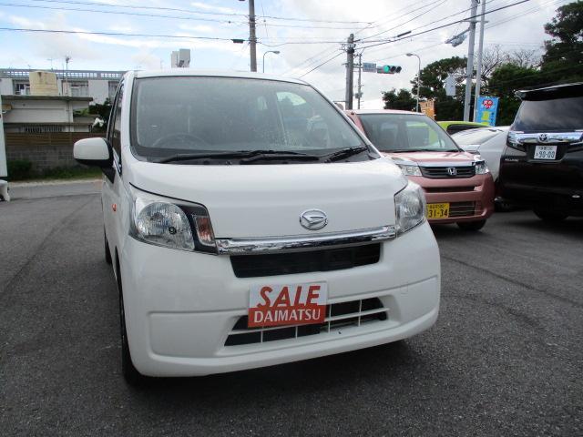 沖縄の中古車 ダイハツ ムーヴ 車両価格 49万円 リ済込 2014(平成26)年 9.0万km ホワイト