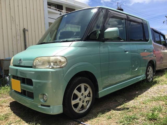 沖縄の中古車 ダイハツ タント 車両価格 33万円 リ済込 平成17年 7.9万km グリーン