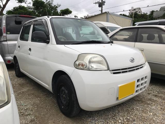 沖縄の中古車 ダイハツ エッセ 車両価格 12万円 リ済込 2007(平成19)年 11.3万km ホワイト
