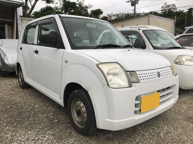 沖縄の中古車 スズキ アルト 車両価格 15万円 リ済別 2007(平成19)年 11.4万km ホワイト