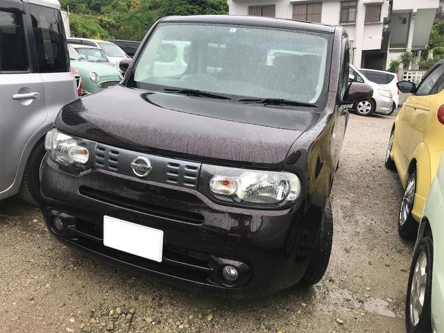 沖縄の中古車 日産 キューブ 車両価格 50万円 リ済込 2015(平成27)年 8.2万km ブラウン