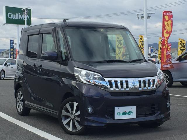 沖縄県の中古車ならeKスペースカスタム カスタムT 純正ナビTV バックカメラ 両側パワースライド
