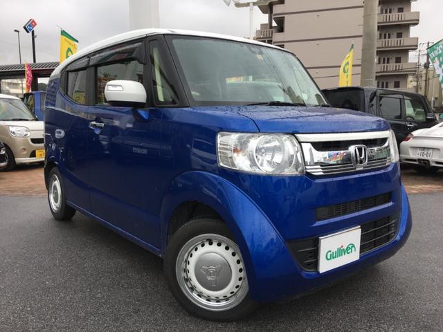 沖縄県の中古車ならN-BOXスラッシュ X 2トーン 純正ナビTV バックカメラ サウンドマッピング