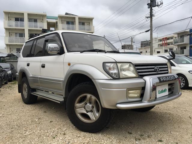 沖縄県の中古車ならランドクルーザープラド TXリミテッド 社外オーディオ 背面タイヤ
