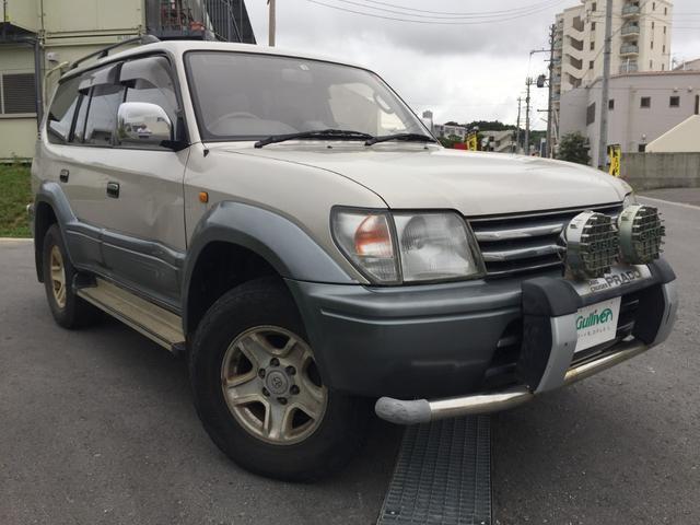 沖縄県の中古車ならランドクルーザープラド TX サンルーフ 純正オーディオ 電動格納ミラー