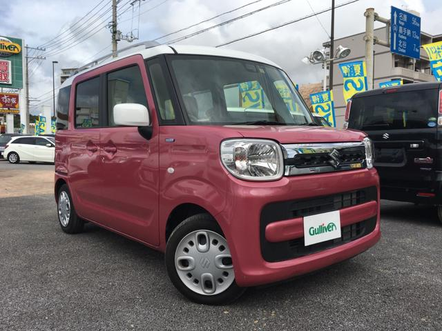 沖縄県の中古車ならスペーシア ハイブリッドX 2トーン ナビTV Bカメラ 両側パワスラ