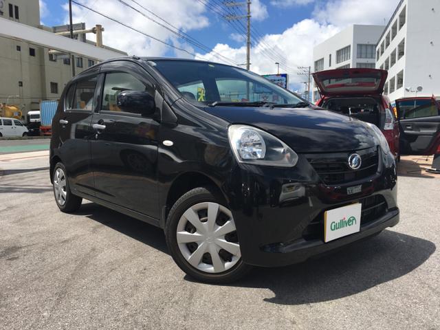 沖縄の中古車 ダイハツ ミライース 車両価格 49万円 リ済別 2013(平成25)年 6.5万km ブラック