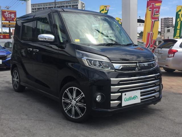 沖縄県の中古車ならeKスペースカスタム カスタムT e-アシスト ナビ・TV・Bluetooth・純正アルミ・アイドリングストップ・両側パワースライドドア・クルーズコントロール・ETC