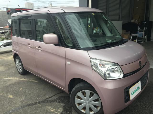 沖縄の中古車 スズキ スペーシア 車両価格 39万円 リ済別 2013(平成25)年 12.9万km ピンク