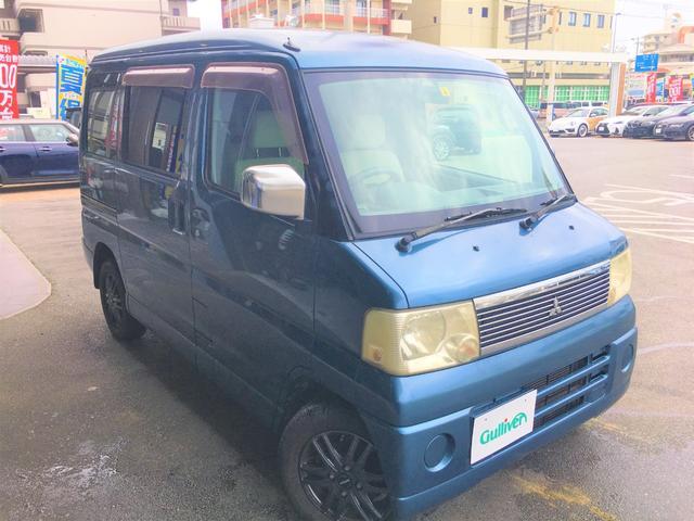 沖縄の中古車 三菱 タウンボックス 車両価格 39万円 リ済別 2005(平成17)年 10.6万km ブルー
