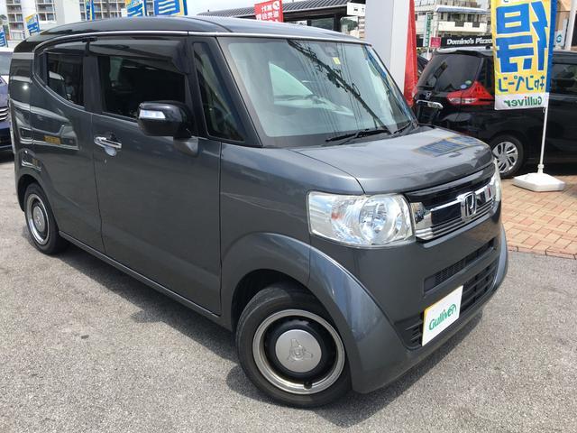 沖縄県の中古車ならN-BOXスラッシュ X サウンドマッピング 置くだけ充電 バックカメラ付オーディオ HIDヘッドライト スマートキー&プッシュスタート 純正14インチAW