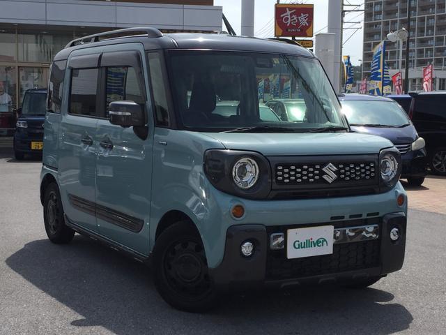 沖縄県の中古車ならスペーシアギア ハイブリッドXZ ターボ 両側スライドドア フルセグTV BluetoothDVD再生 ダブルエアコン 純正ナビ