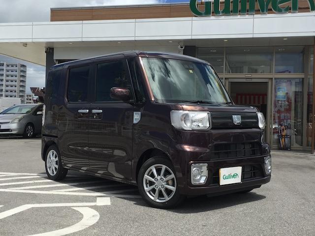 沖縄県宜野湾市の中古車ならウェイク L SAIII プッシュスタート・スマートキー・両側パワスラ・フォグランプ・オートライト・オートハイビーム・Bカメラ・電格ミラー