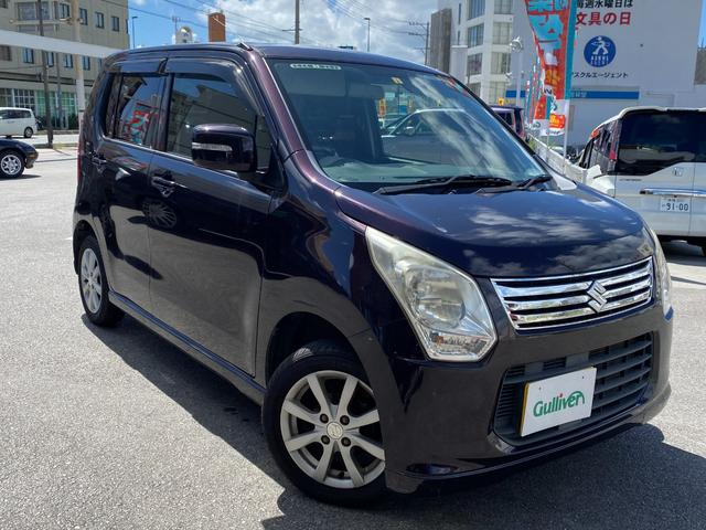 沖縄の中古車 スズキ ワゴンR 車両価格 49万円 リ済別 2013(平成25)年 9.7万km パープル