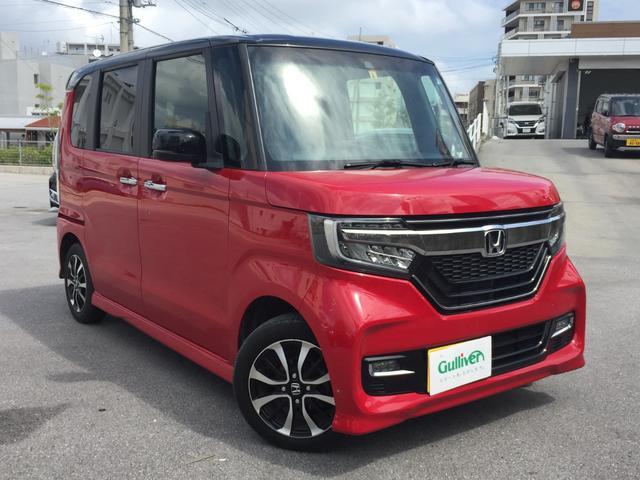 沖縄県の中古車ならN-BOXカスタム G・Lホンダセンシング SDナビ パワースライドドア バックカメラ Bluetooth