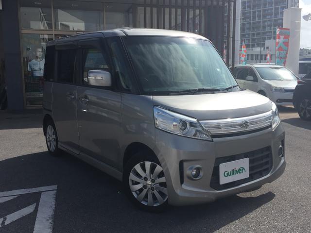 沖縄県宜野湾市の中古車ならスペーシアカスタム XS パワースライドドア プッシュスタート スマートキー Bluetooth