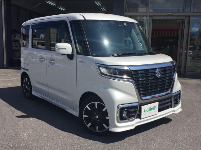 沖縄県宜野湾市の中古車ならスペーシアカスタム ハイブリッドXS 両側パワースライドドア LEDヘッドライト シートヒーター プッシュスタート