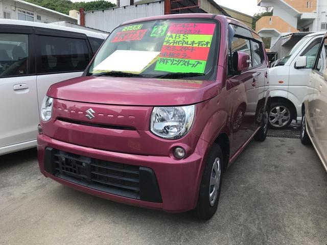 沖縄の中古車 スズキ MRワゴン 車両価格 68万円 リ済込 平成26年 4.9万km ピンク