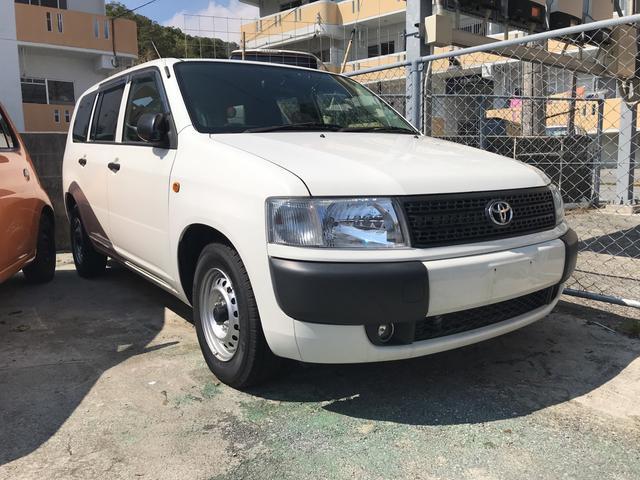 沖縄の中古車 トヨタ プロボックスバン 車両価格 55万円 リ済込 平成24年 5.8万km ホワイト