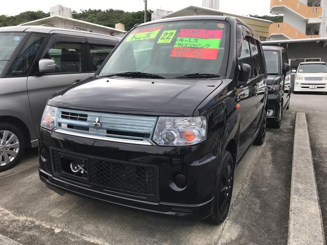 沖縄の中古車 三菱 トッポ 車両価格 45万円 リ済込 平成22年 7.5万km ブラック