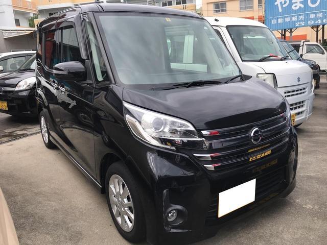 沖縄の中古車 日産 デイズルークス 車両価格 85万円 リ済込 平成26年 4.3万km ブラック