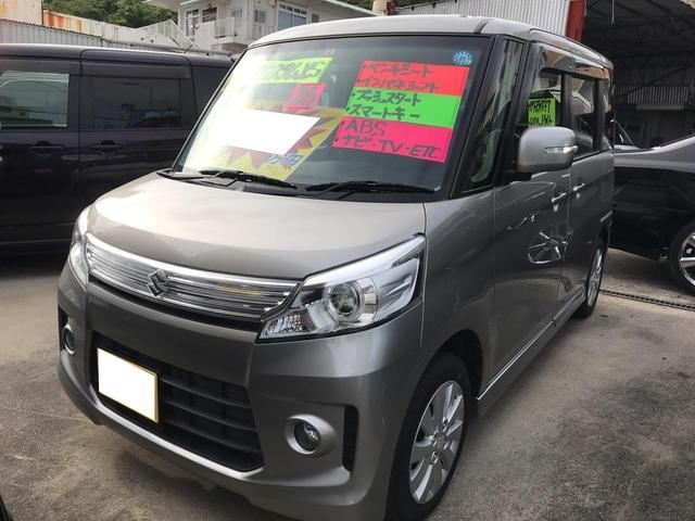 沖縄の中古車 スズキ スペーシアカスタム 車両価格 95万円 リ済込 平成26年 5.9万km シルバー