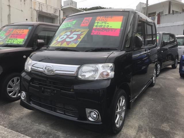 沖縄の中古車 ダイハツ タント 車両価格 65万円 リ済込 平成25年 6.9万km ブラック