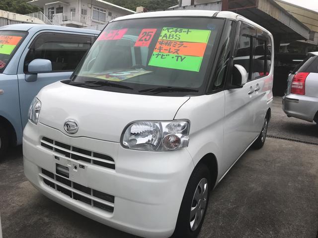 沖縄の中古車 ダイハツ タント 車両価格 55万円 リ済込 平成25年 6.6万km ホワイト