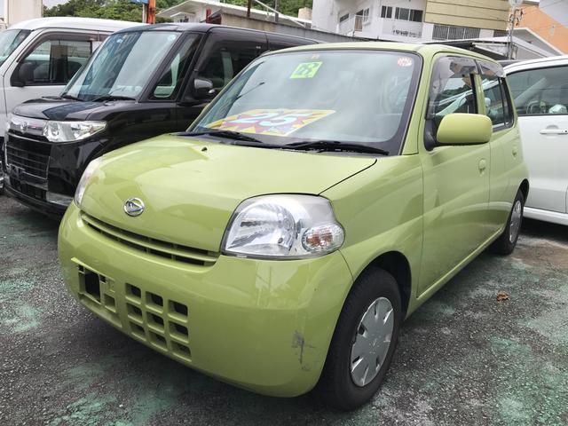 沖縄の中古車 ダイハツ エッセ 車両価格 25万円 リ済込 2006(平成18)年 5.9万km グリーン