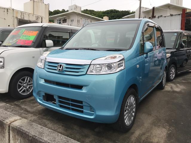 沖縄の中古車 ホンダ ライフ 車両価格 48万円 リ済込 2012(平成24)年 7.7万km ブルー
