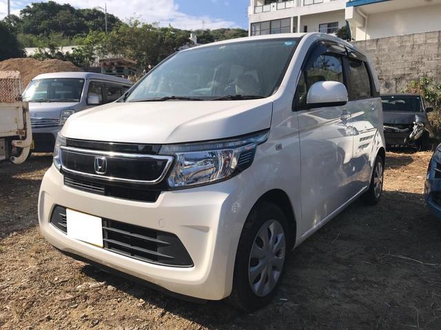 沖縄の中古車 ホンダ N-WGN 車両価格 68万円 リ済込 2016(平成28)年 7.4万km パール